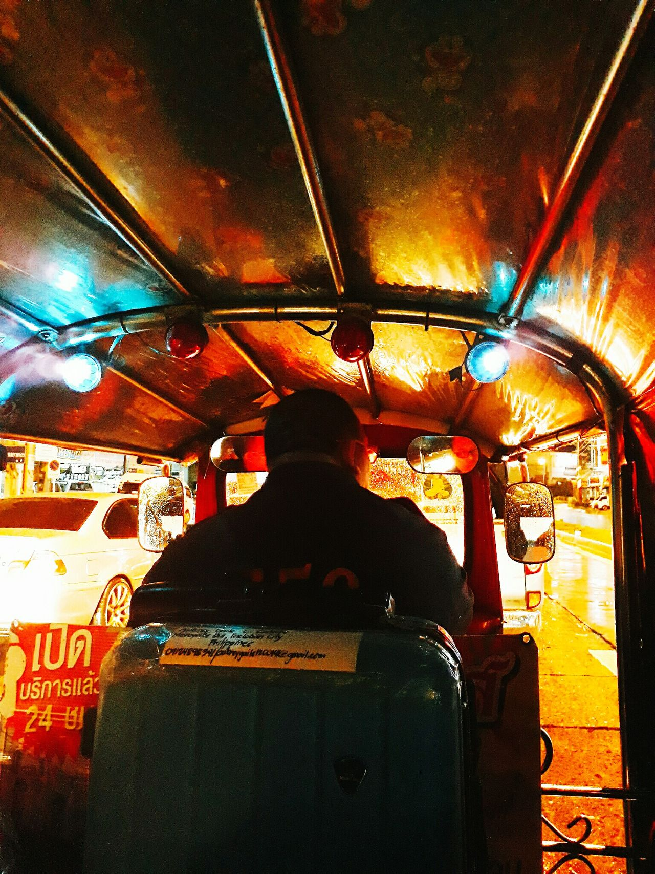 TukTuk Rainynights Transportation Land Vehicle Multi Colored People
