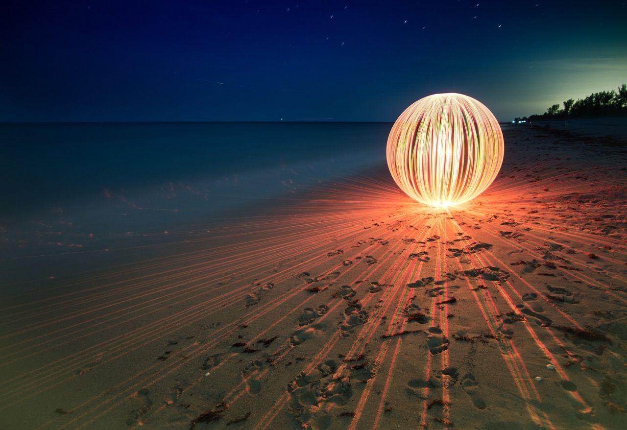 Orbs Sphere Nightatthebeach Hobesound Florida Lightpainting Long Exposure Slow Shutter