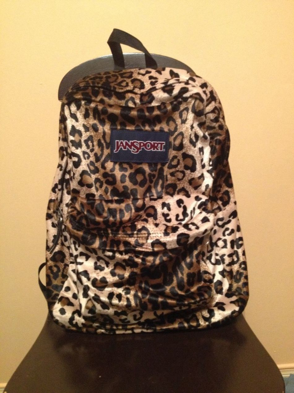 Myschoolbag Cheetahprint Jansport Sick As Fuck