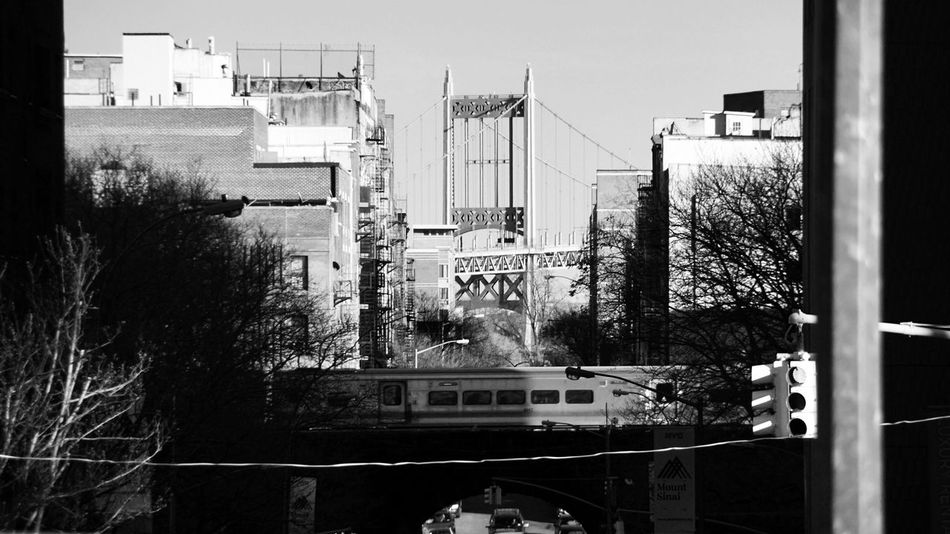 Transportation Mode Of Transport Land Vehicle Architecture Built Structure Car Day Building Exterior No People Manhattan Bridge USA New York City New York Walking Around The City  From Where I Stand Streetphotography City Black And White Outdoors Central Park Tree Sky City
