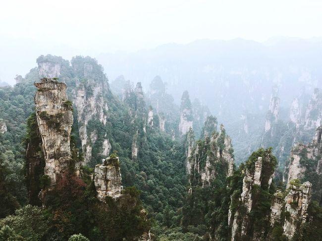Mountain Nature Scenics Landscape Fog China Traveling Travel Destinations Avatar Inspirations