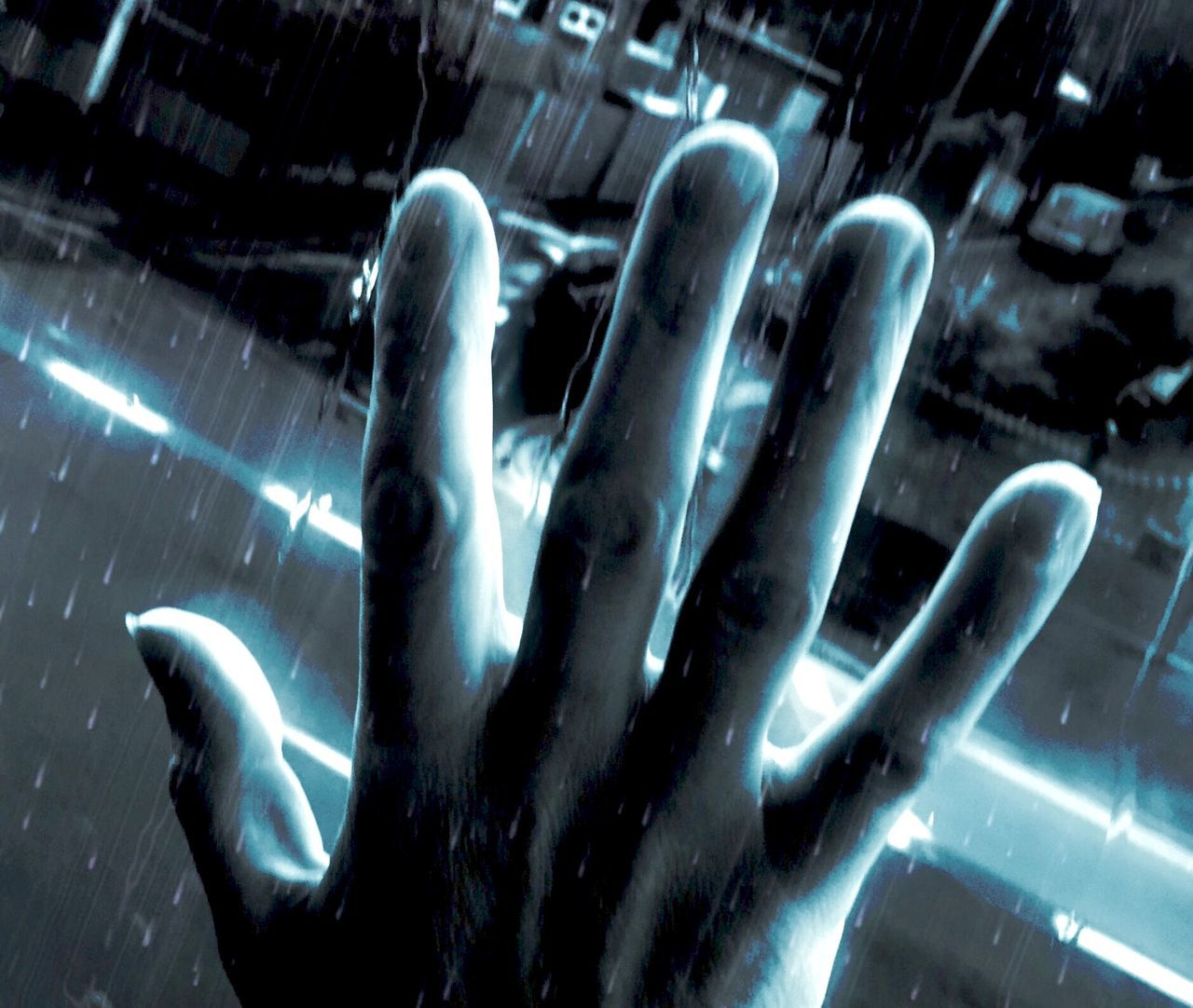 Hand Freaky Weird One Hand Street Twilight Glowing Edges Urban Help Scared