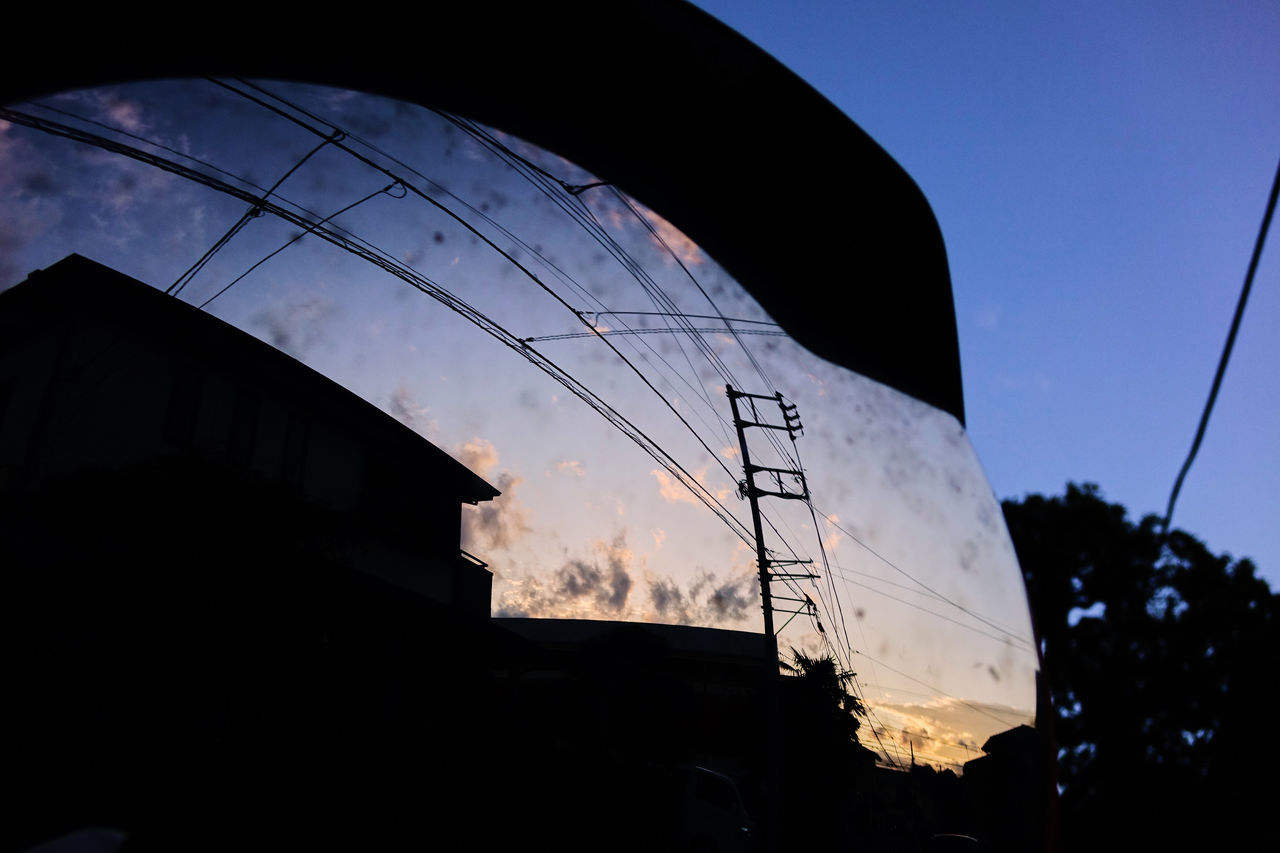 Architecture Building Exterior Built Structure City Cloud - Sky Low Angle View Mirror Mirror Picture Mirror Reflection No People Outdoors Silhouette Sky Sunset
