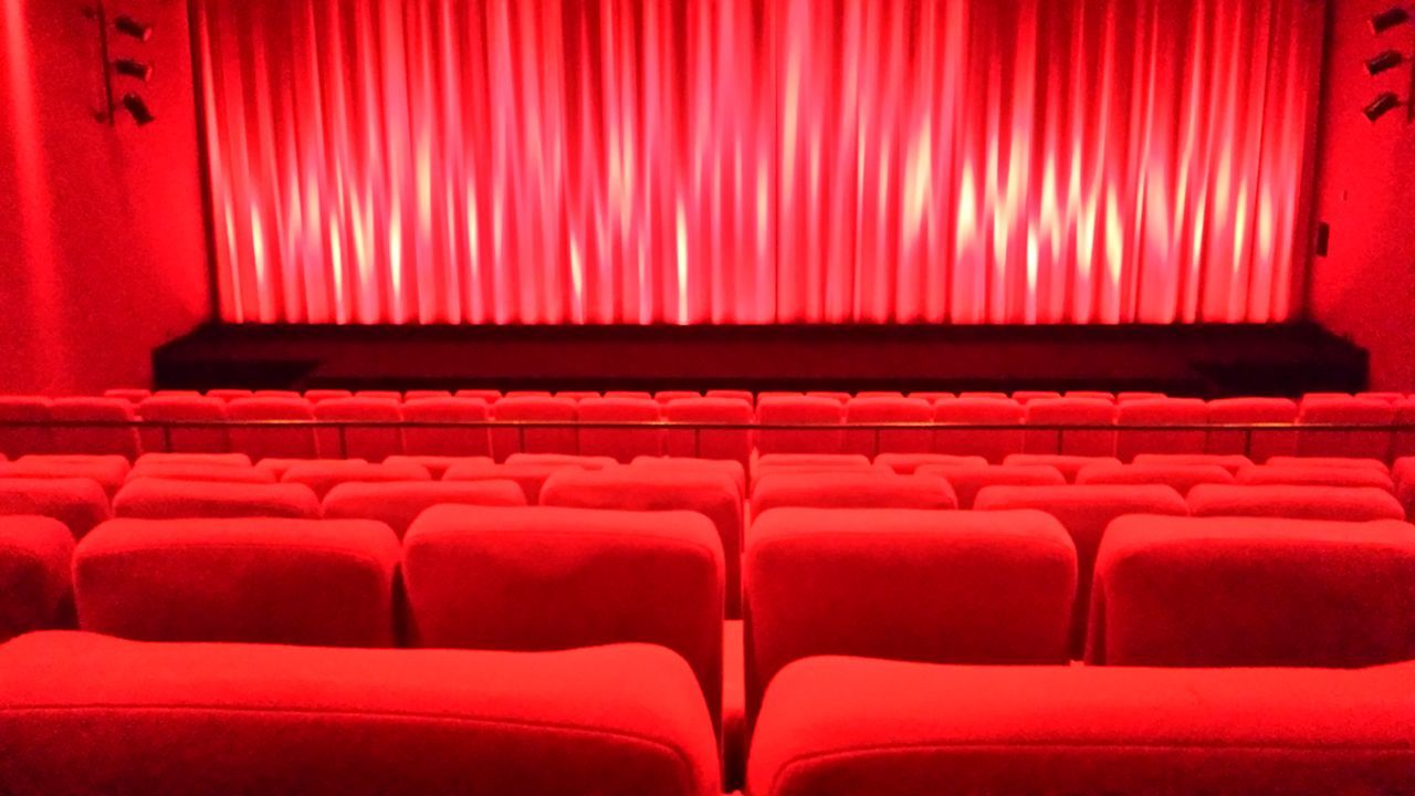 Red Auditorium In A Row Empty Seat Movie Theater Indoors  Arts Culture And Entertainment No People Backgrounds Film Industry Day Cinema Emden Eastfrisia Cinestar Germany No People, Indoors