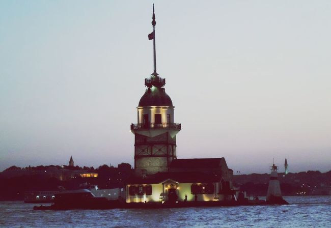 Istanbul City Maiden Tower Sea Historical Building Architecture Light And Shadow Landscape Twilight Sky Taking Photos Check This Out