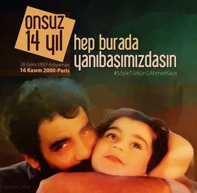 16 Kasım 2000 ülkesıne ihanet eden bunca hain kahraman ilan edilirken onu tek suçu Kürtçe bir şarkı söylemekti şarkılarmız ausmayacak SöyleTürkünüAhmetKaya Onsuz14YılAhmetKaya