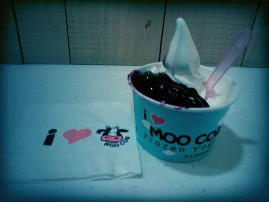 Checking in at moo cow sunway pyramid by Tajinder Kaur