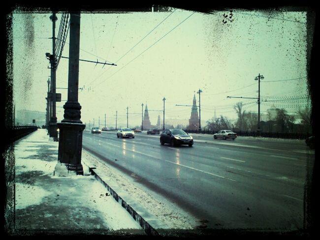 Заснеженный путь на Кремль: