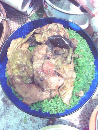 Green rice Food