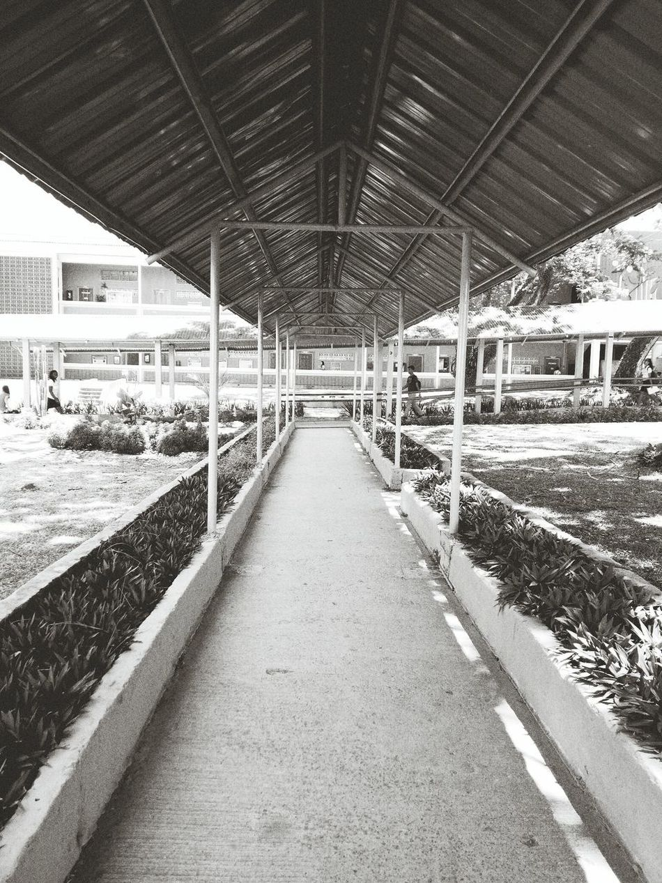 Architecture Roof Outdoors Covered Bridge Paths Bnw_captures Built Structure Day Philippines