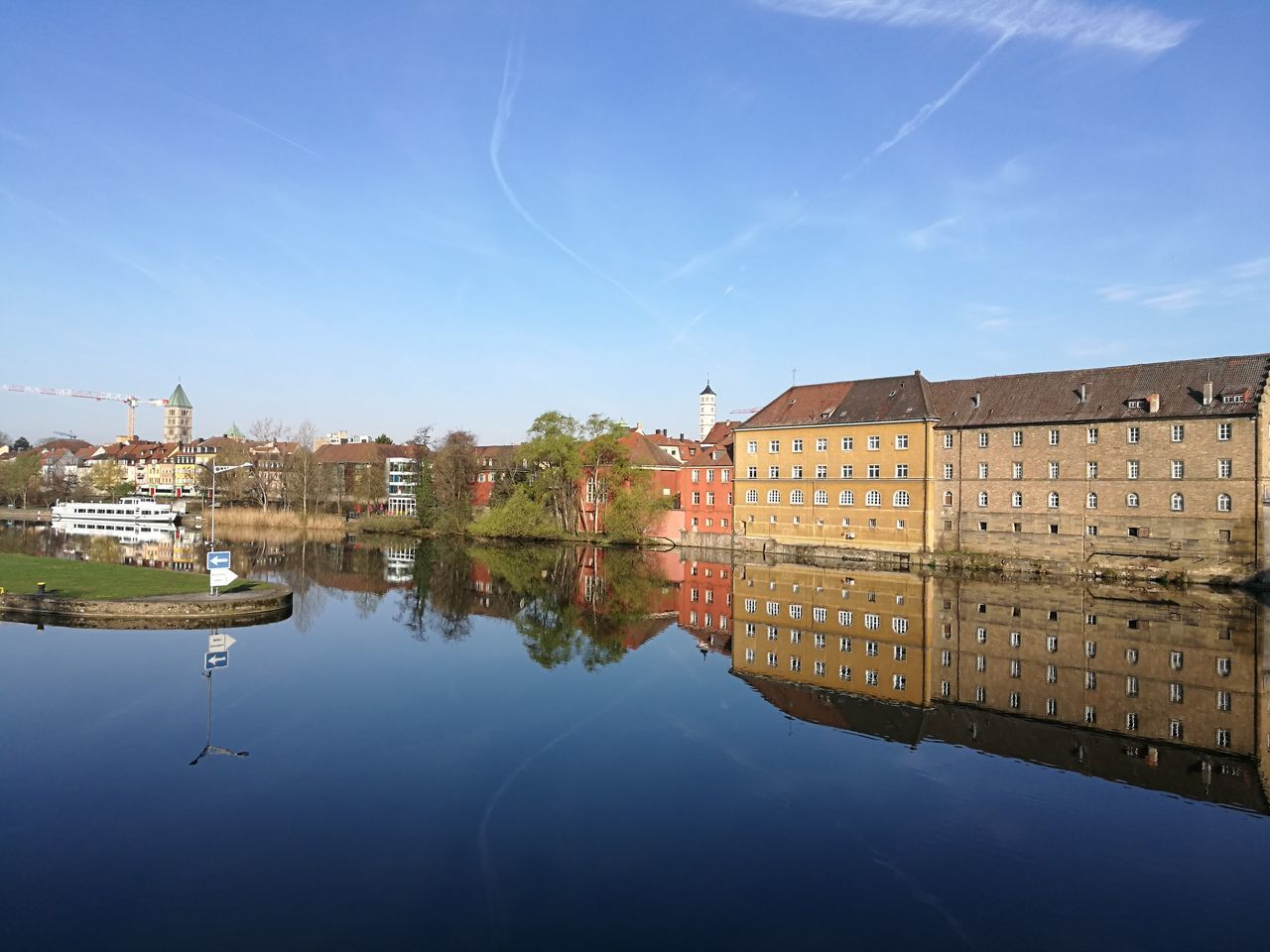 Reflection Water Schweinfurt Main Beauty In Nature History Built Structure Architecture Travel Destinations Scenics City