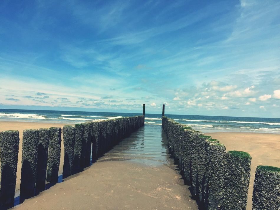 In the Netherlands on the Beach by the Sea , Meer Holland Sand Holidays ☀ La Mer Groyne Buhnen Iphonegraphy Zeeland  Hobbyfotograf Am Strand Strand Vacation By The Sea Urlaub Strandurlaub Sonne Und Strand Sun And Beach Domburg  Domburg, Nederland Blue Blue Sky