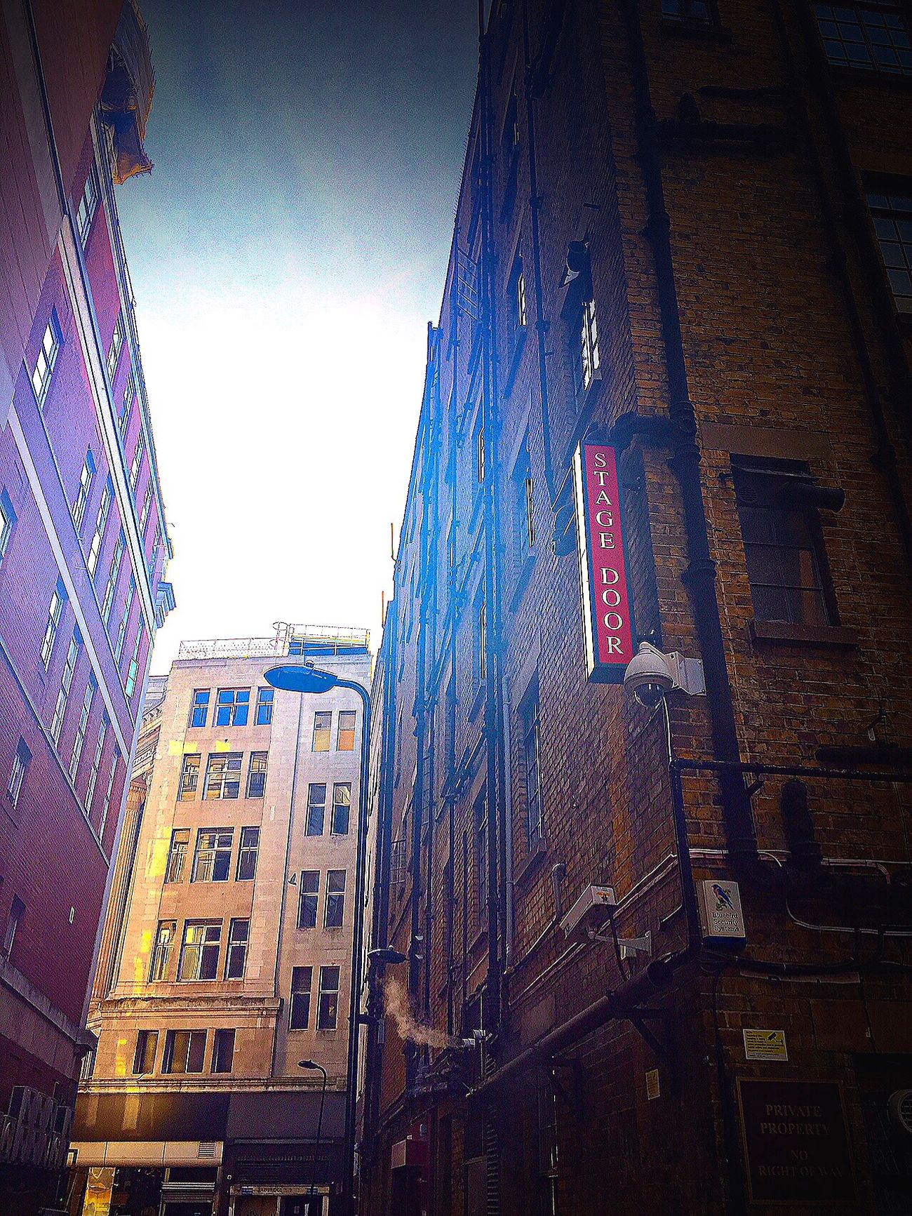 Stagedoor Backstreets & Alleyways Building Exterior Architecture Low Angle View Built Structure City Travel Destinations Skyscraper City Life Outdoors No People Sky Day Modern LONDON❤ Urban Streetphotography