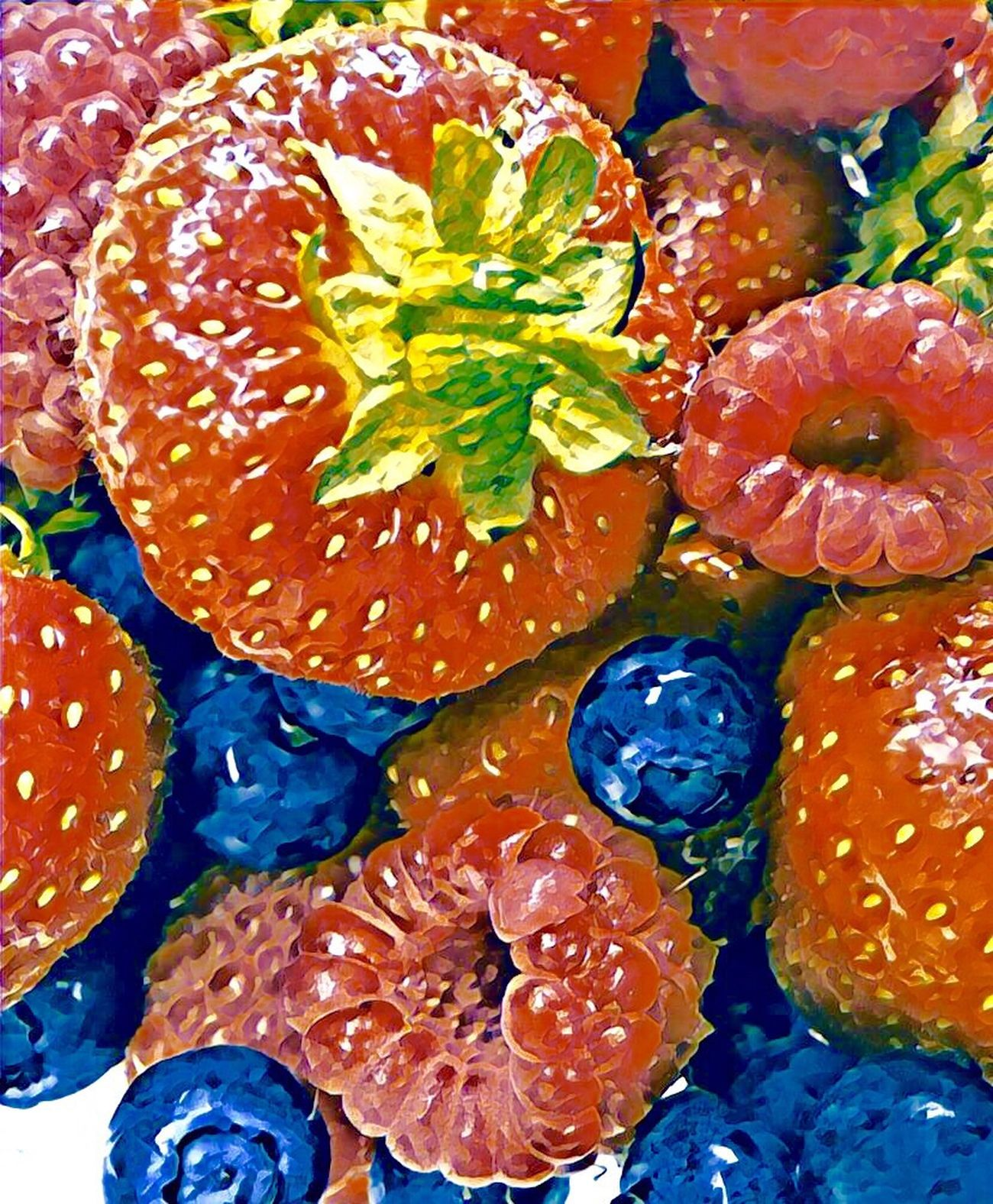 Transforming Photos Into Paintings Food Freshness Multi Colored Close-up Food And Drink Healthy Eating Fruit Fruitporn Fruit Photography Fruits And Vegetables Fruity Color Palette Colors Rainbow Colors Berries Berry Fruit Berries Collection