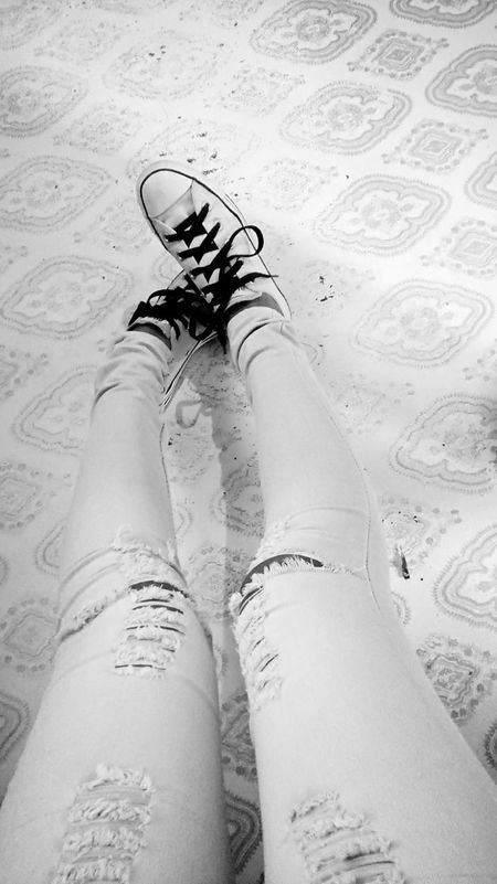 Relaxing That's Me Black And White Shoes Cool