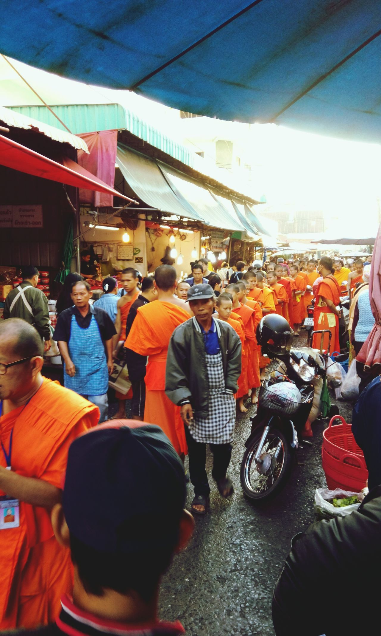 Large Group Of People City Men Built Structure Outdoors People Architecture Sky Adults Only Adult Day Only Men Thaiculture Monks Walk Market