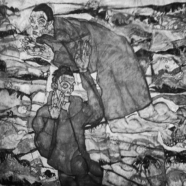 Schiele  Egonschiele Levitation 1917
