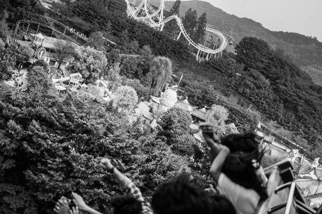 Roller Coaster Theme Park Blackandwhite Taking Photos Enjoying Life From Above  Eye4photography  EyeEm Best Shots EyeEm Korea