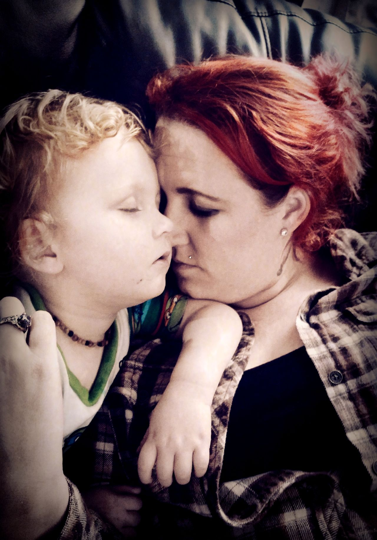 Two People Togetherness Love Indoors  Happiness Portrait Day Check This Out Mother And Child Mother And Son Adult And Child Motherslove Nap Time EyeEm Gallery Portrait Photography Portraits Of EyeEm Red Hair Family Time People Snuggly Close-up Enjoy The New Normal