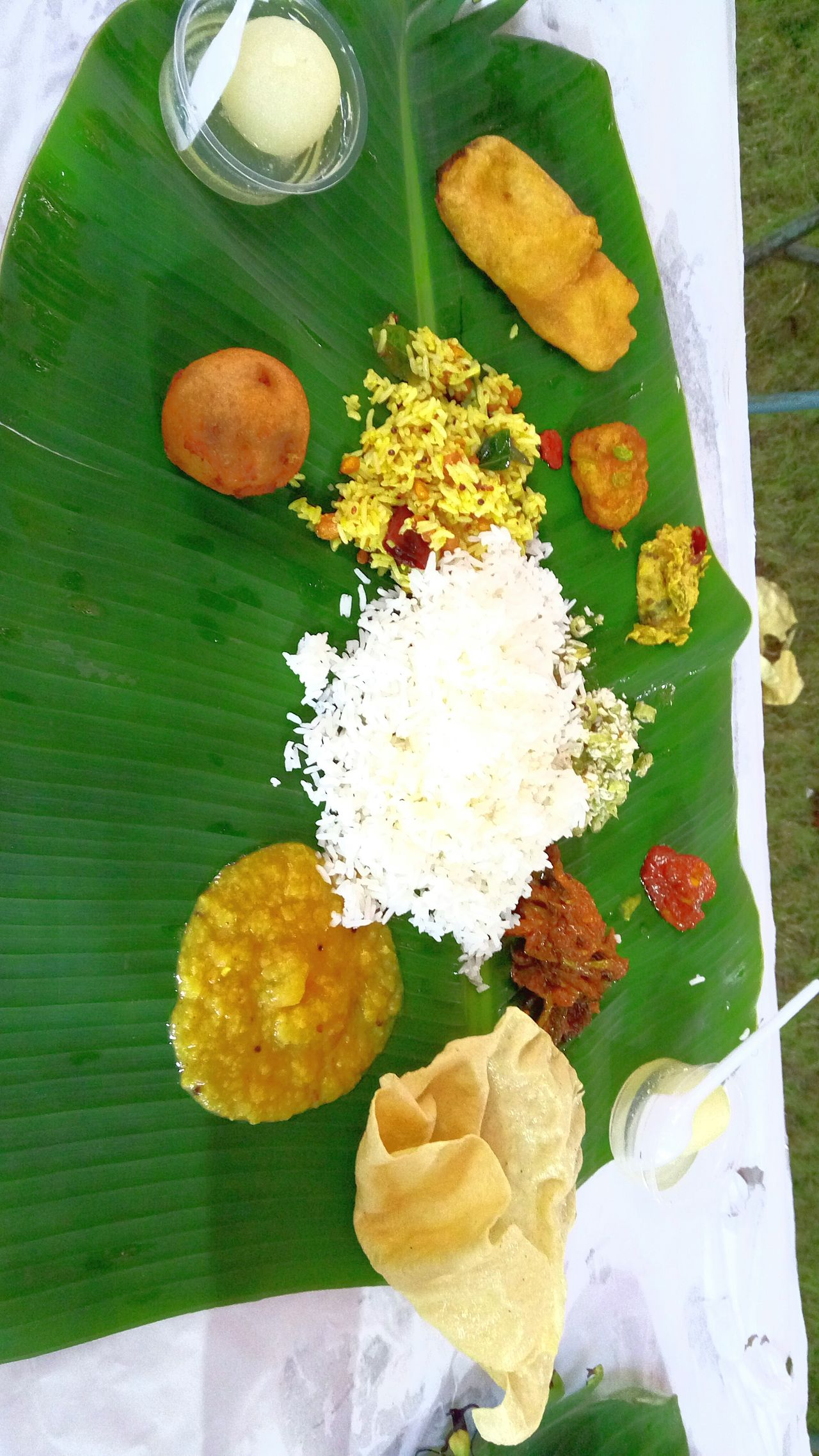 An authentic Andhra style Food during a marriage in Konaseema.... Food And Drink Andhra Food Multi Colored Temptation Marriage  Freshness First Eyeem Photo