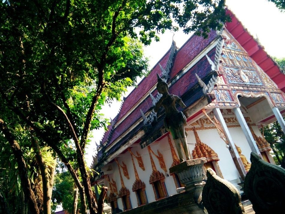 Thai Temple Thailand My Frist Picture  Oppon1mini Butiful Art Nature Relaxing Taking Photos Enjoying Life First Eyeem Photo