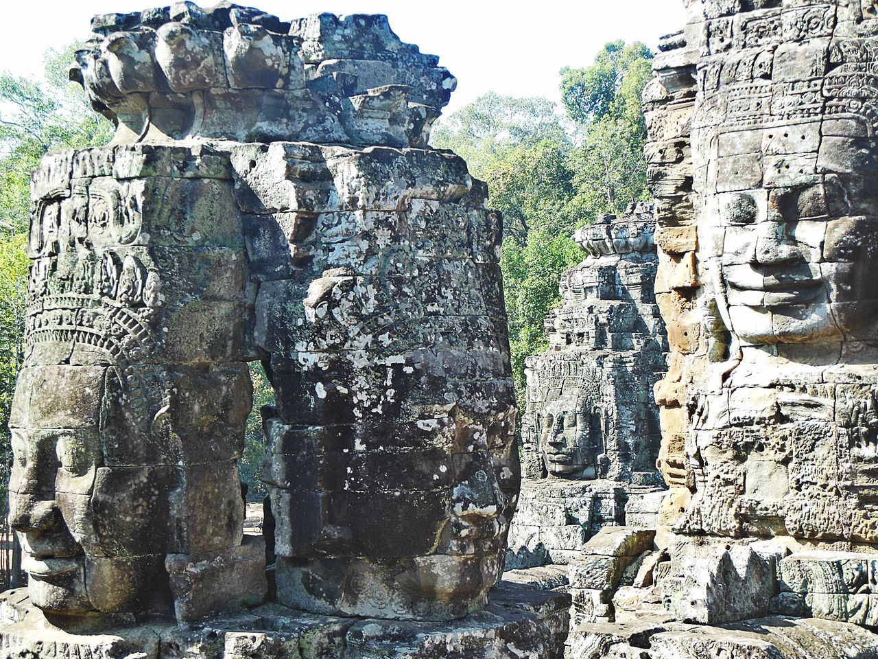 Ancient Ancient Architecture Ancient Civilization Ancient Ruins Angkor Thom Architecture Asiantour Bayon Temple Cambodia Close-up Cultures Eyeem Cambodia Eyeem History History Khmer Empire No People Old Ruin Tourism Travel Travel Destinations