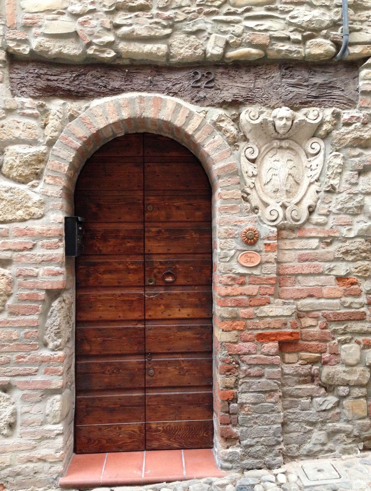 Castello D'Arquato Emiliaromagna Borgo Medievale Borgo Più Bello Porta Door Dettaglio