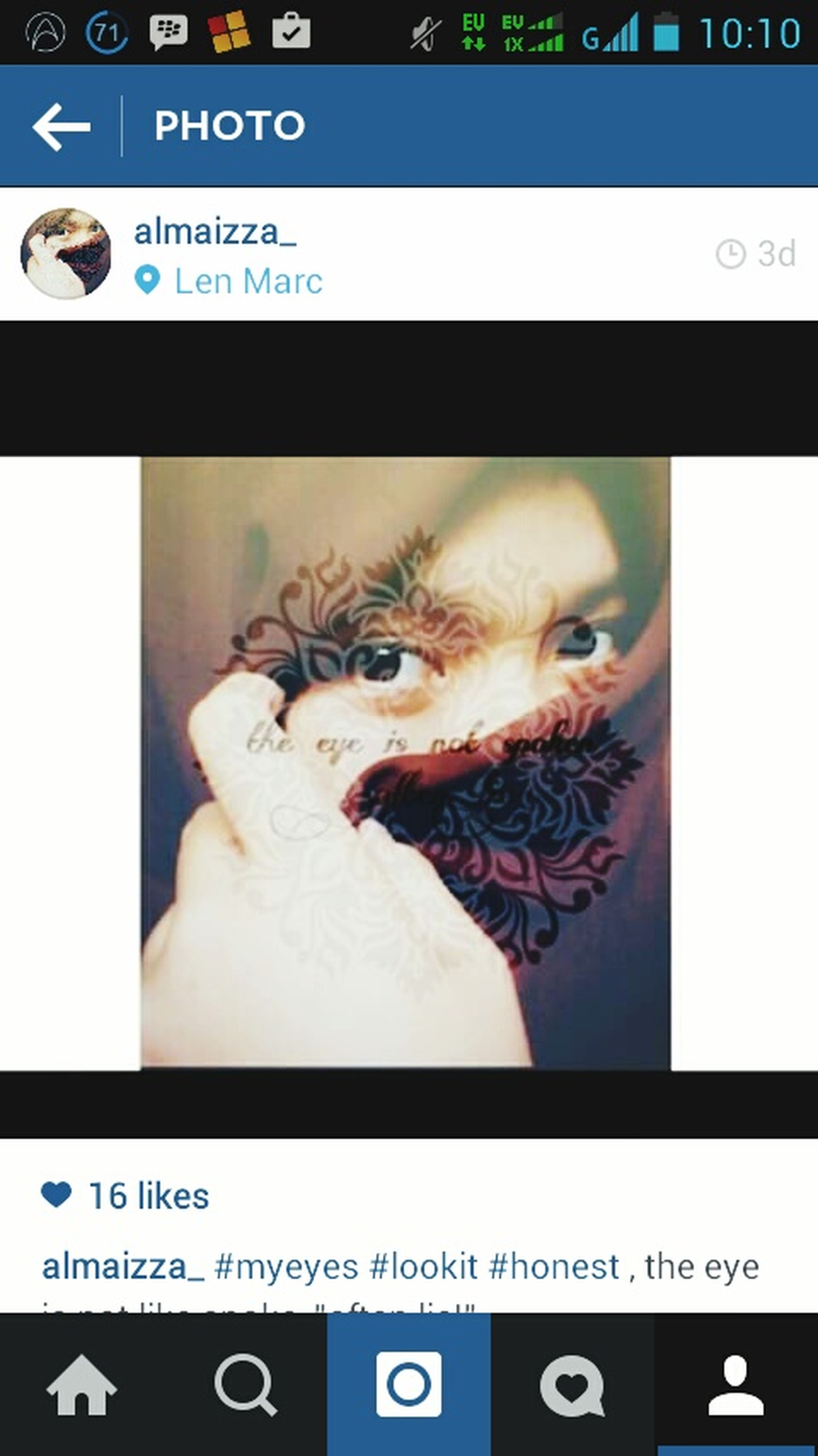 Hijab Eyes . This's me and my insta, follow please First Eyeem Photo