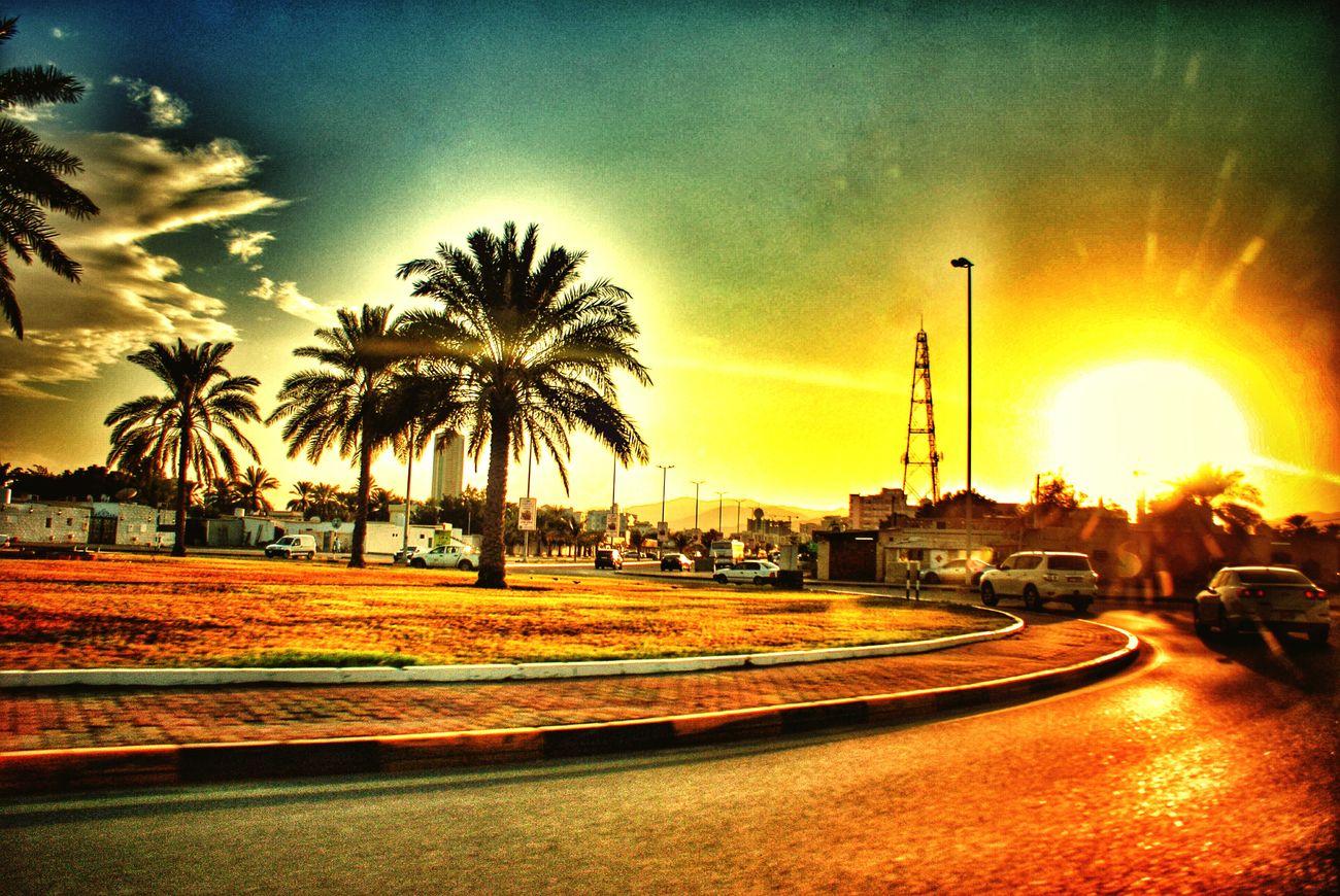 Taking Photos Sunset Roundabout