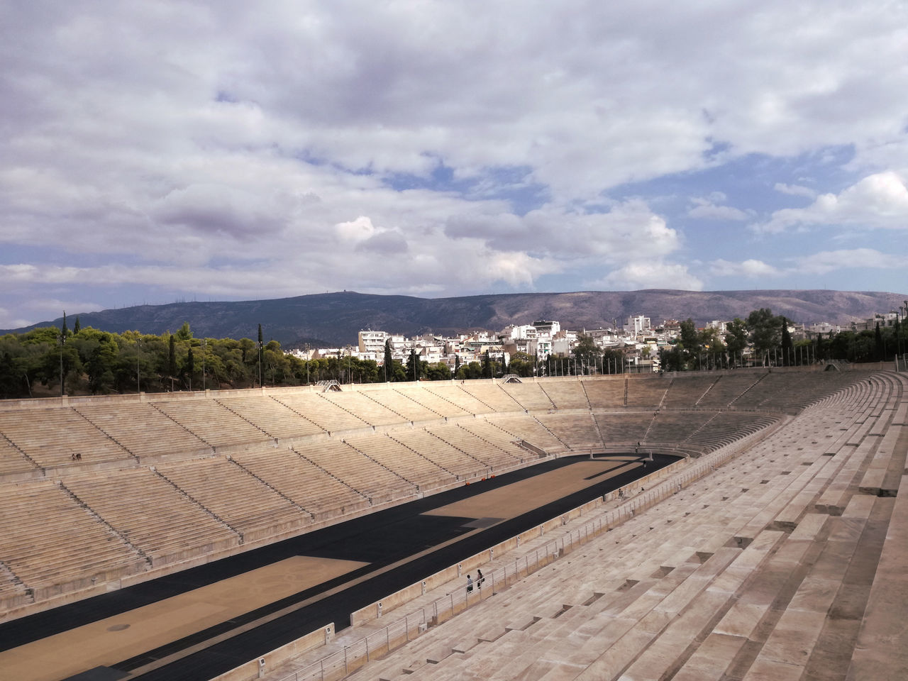 Athens, Greece Landascape Olimpic Games  Olimpic Stadium Panoramic Landscape Sky Sky And Clouds View Outdoors Tranquility Scenics No People Stadium Panathinaiko Architecture