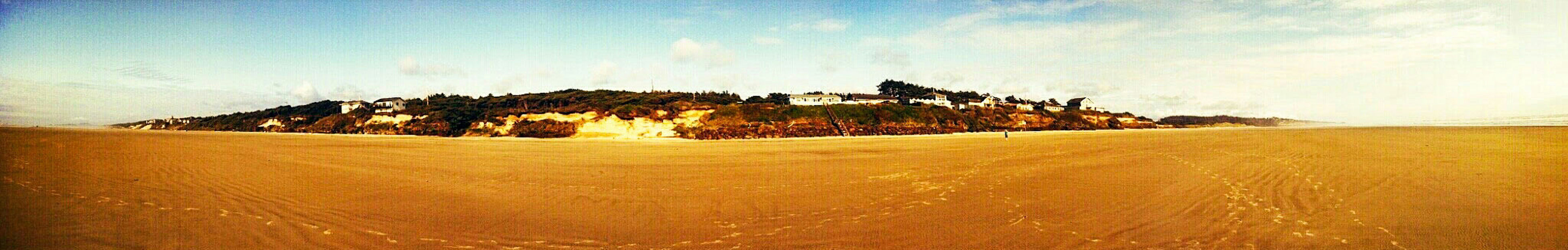 As Far As The East Is From The West... Panorama shot taken on Oregon's coastline at low tide. The Great Outdoors With Adobe East West Coastline Landscape Beach Photography Sandy Beach Ocean Oregonexplored The Great Outdoors - 2016 EyeEm Awards LaskaBoha_Photography