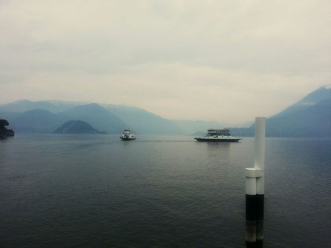 Rush hourHour Varenna Lagodicomo Bellagio Ferry Boat Italy
