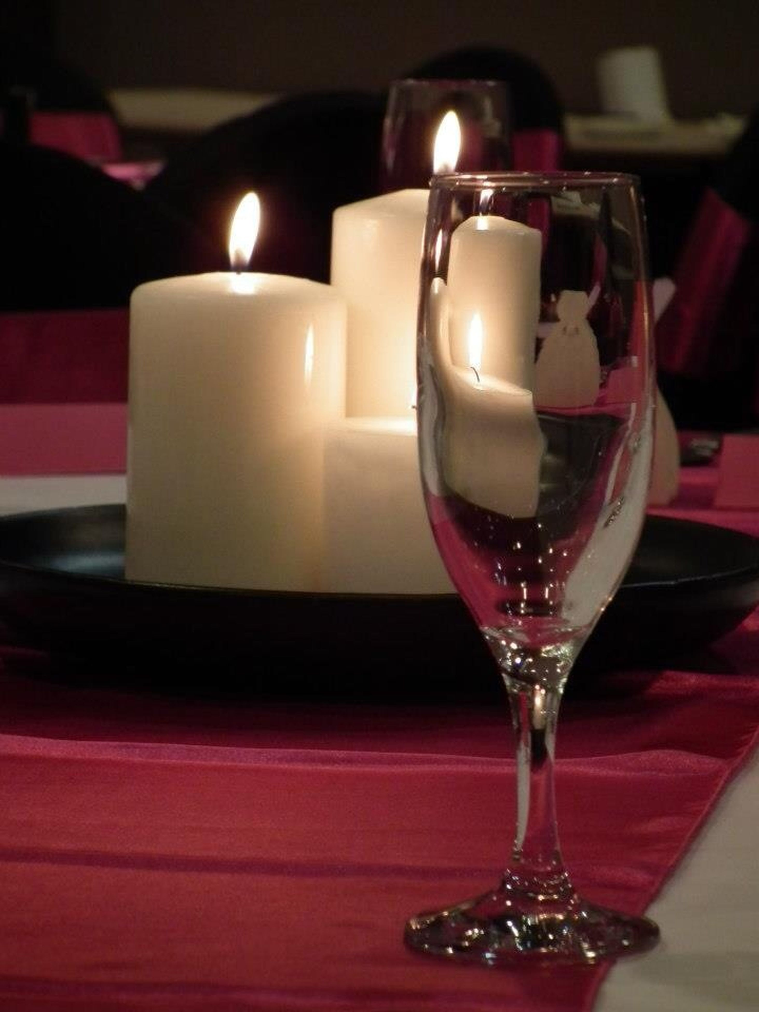 indoors, table, still life, food and drink, home interior, candle, illuminated, close-up, red, focus on foreground, drinking glass, food, no people, decoration, glass - material, sweet food, drink, selective focus, celebration, indulgence
