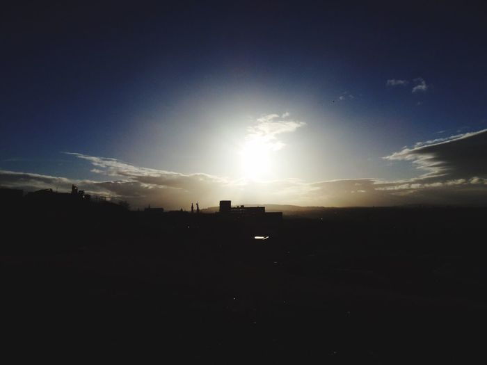 Edinburgh Hill Sunset Sun Light Sunshine Nature Sky Beauty In Nature