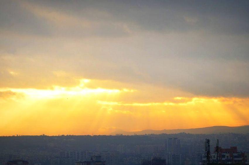 Sky Nature Beauty In Nature Scenics Yellowlight Sunrise Freshness No People