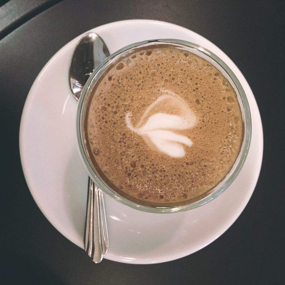 Coffee - Drink Coffee Cup Drink Frothy Drink Food And Drink Refreshment Cappuccino Directly Above Table Freshness Close-up Saucer Latte High Angle View Froth Art Indoors  No People Froth Day good day.