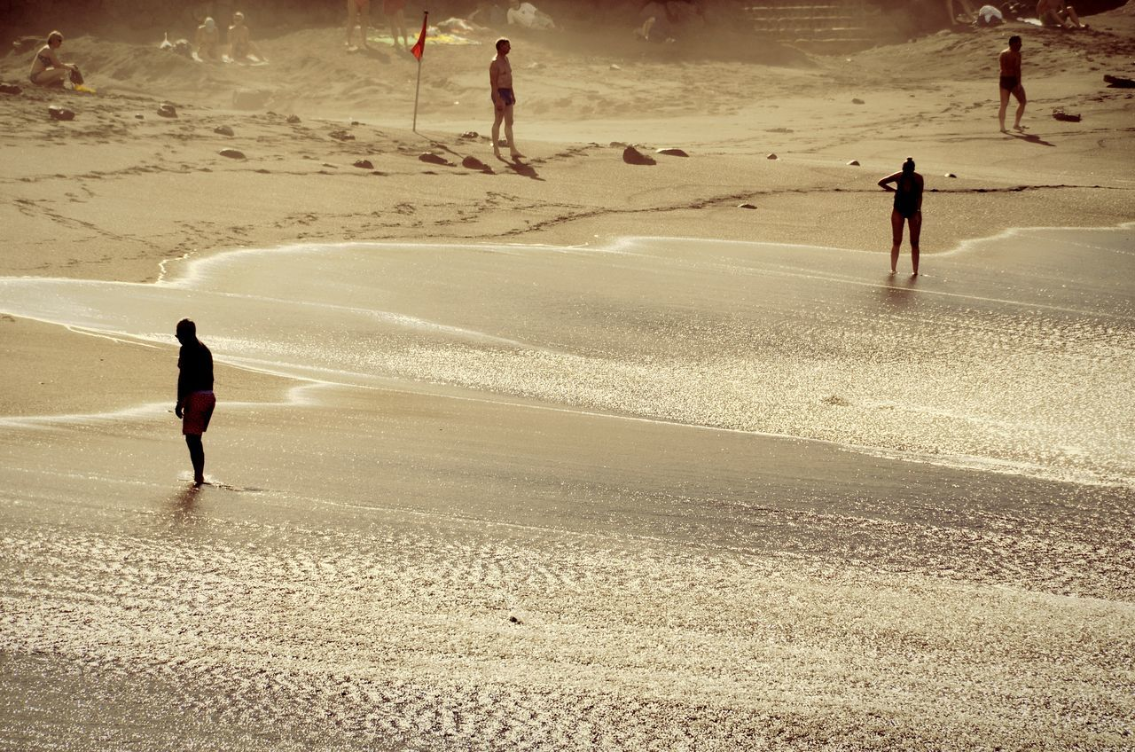 Beach Sand Real People Lifestyles Walking Outdoors Full Length Vacations Nature People Adult Day EyeEm Masterclass Eye4photography  Shootermag Travel Destinations Waves Rolling In Silhouette Dust The Great Outdoors - 2017 EyeEm Awards