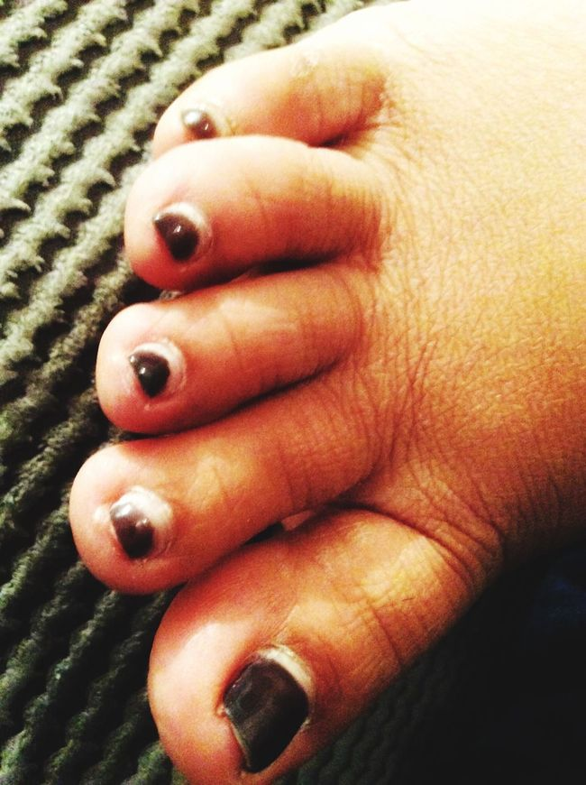 A lady's toes. Person Close-up Toe Toes Foot Digits