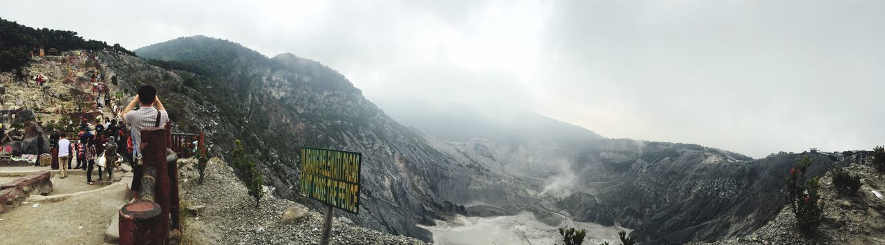 The panoramic view of Tangkuban Perahu, Bandung. Hello World Relaxing Enjoying Life Beautiful Clouds And Sky Volcano Crater Tangkuban Perahu Taking Photos Beautiful Nature