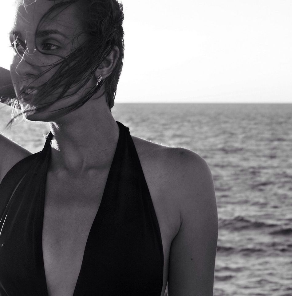 Women Around The World Sea Real People Water One Person Beach Sevastopol