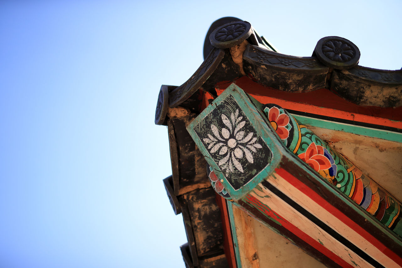 Architecture Clear Sky Korea Korean Traditional Architecture Low Angle View No People Outdoors Roof Sky Traditional