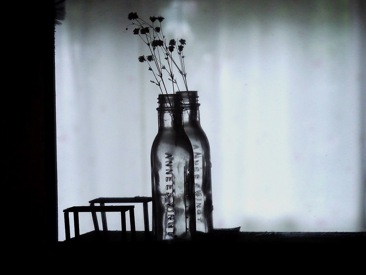 bottle, no people, indoors, day, architecture, close-up