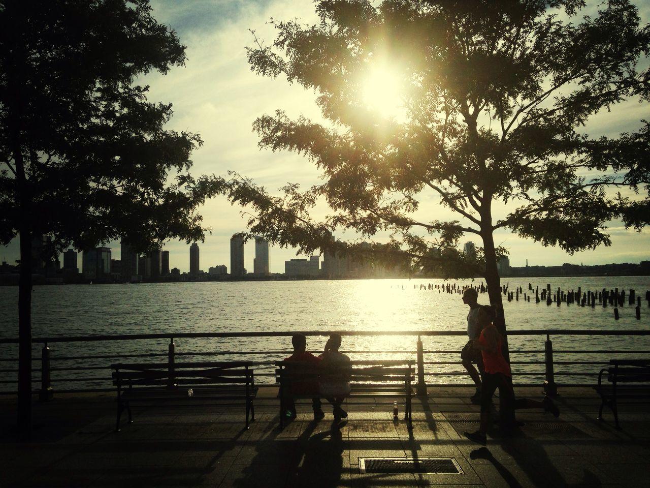 Jogging New York Sunset
