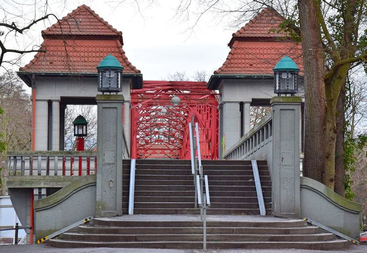 Architecture Berlin-Tegel Bridge Building Exterior Built Structure Day Lantern No People Outdoors Red Roof Sky Tree