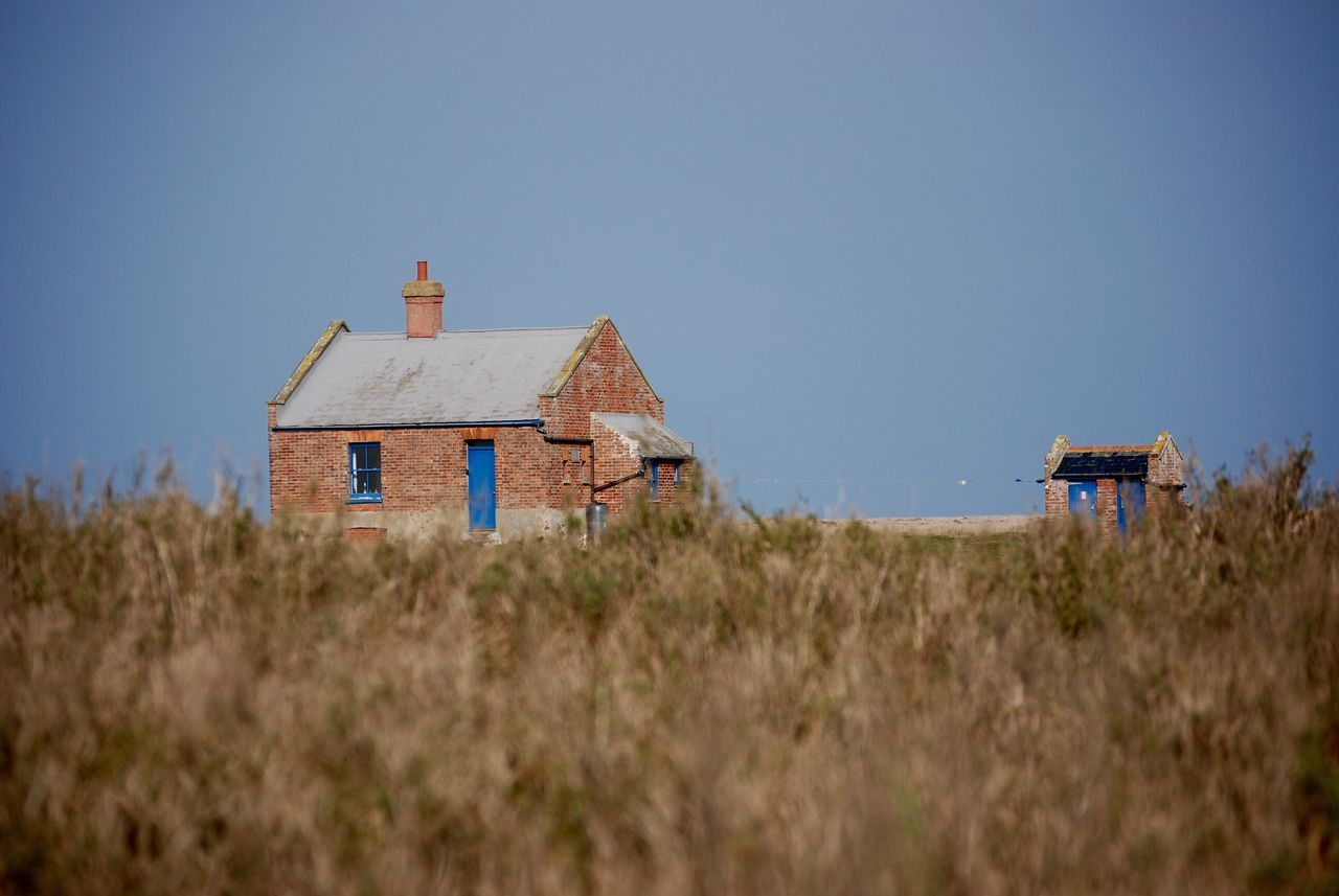 The Watchouse Clear Sky Built Structure Building Exterior Architecture Nature Tranquil Scene Blue No People Beauty In Nature Tranquility Field Rural Scene Non-urban Scene Sky Grass Outdoors Landscape Scenics Marsh Seaside Salt Marsh Dunes Sand Dune Lifeboat Station... Cley Day