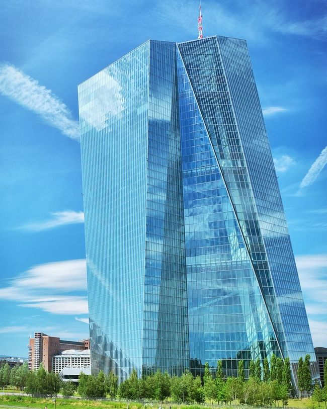 Ecb European Central Bank Frankfurt Am Main Skyline Frankfurt Frankfurt City