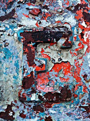 Letter E Rust Lust