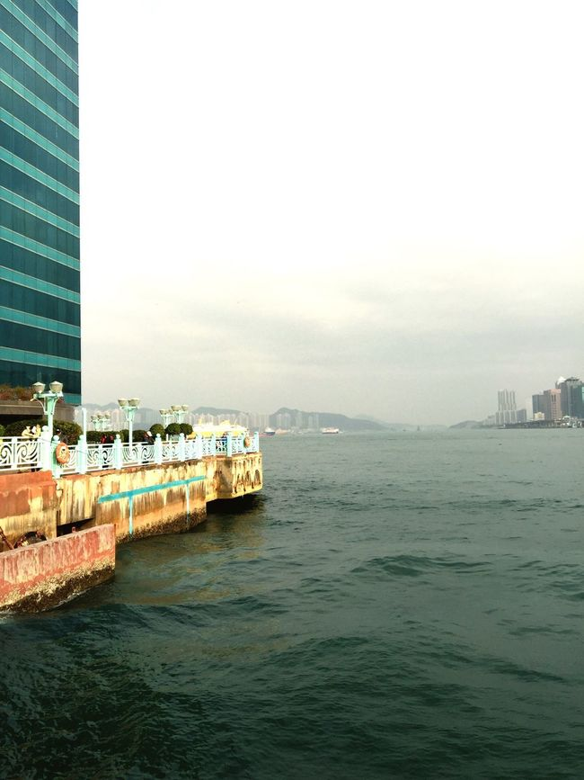 Hong Kong Hung Hom Harbour Water Pier Waves