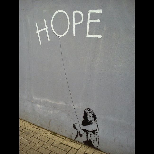 Hope Esperanza Northcoteroadfara Faracharity Banksy faracharityshops Northcote Road Uk London Fara