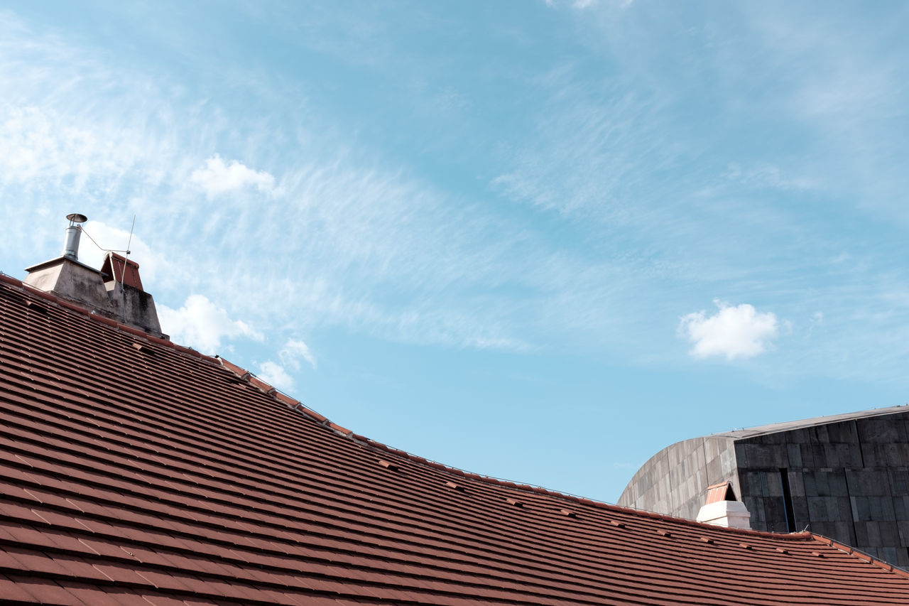 Architecture Building Exterior Built Structure Cloud - Sky Day Low Angle View Modern Art Museum Museumsquartier Museumsquartier Vienna/Austria Nature No People Outdoors Roof Roof Tile Rooftop View  Shingles Sky Tiled Roof